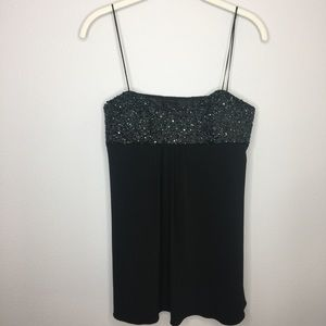 LAUNDRY BY SHELLI SEAGAL Beaded Dress Top